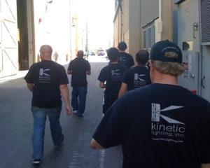 Kinetic production crew