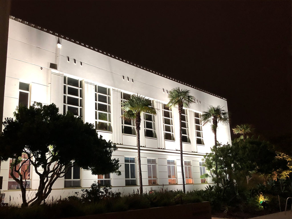 Exterior Architectural Lighting onto City Hall Building